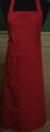 Detail foto van Omslagschort geheel sluitend met twee zakken Garnering in bijpassende strepen - Bordeaux effe