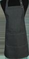 Detail foto van Halterschort voorzien van een verstelbare nekband d.m.v. drukkers. Zak dubbel opgestikt en in 2e gedeeld. Voorzien van rivetten. - Black Camel