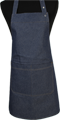 Detail foto van Halterschort voorzien van een verstelbare nekband d.m.v. drukkers. Zak dubbel opgestikt en in 2e gedeeld. Voorzien van rivetten. - Blue Camel