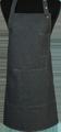 Detail foto van Halterschort voorzien van een verstelbare nekband d.m.v. drukkers. Met pennenzakje en zak dubbel gestikt met 2 steekzakken. Voorzien van rivetten. - Black Camel