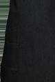 Detail foto van Jeansschort met dubbele zak en voorzien van ringen zodat de nekband verstelbaar is. - Jeans
