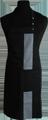 Detail foto van Halterschort met zak in 2e gedeeld en gekleurde baan van 8 cm breed met verstelbare nekband d.m.v. drukkers. - Antraciet