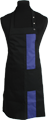 Detail foto van Halterschort met zak in 2e gedeeld en gekleurde baan van 8 cm breed met verstelbare nekband d.m.v. drukkers. - Paars
