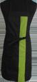 Detail foto van Halterschort met vaste nekband. Gekleurde band ca. 8 cm breed en enkel zakje ca. 20 x 20 cm met lange strikbanden. - Lime