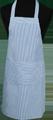 Detail foto van Hobbyschort ingeweven streep met zak in 2e gedeeld - Blauw streep