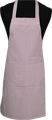 Detail foto van Hobbyschort ingeweven streep met zak in 2e gedeeld - Bordeaux streep
