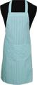 Detail foto van Hobbyschort ingeweven streep met zak in 2e gedeeld - Groen steep