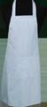 Detail foto van Hobbyschort ingeweven streep met zak in 2e gedeeld - Licht blauw streep