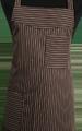 Detail foto van Schoenmakersschort 2 zakken - Bruin licthbruin streep