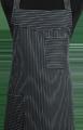 Detail foto van Schoenmakersschort 2 zakken - Krijtstreep smal