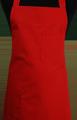 Detail foto van Schoenmakersschort 2 zakken - Rood
