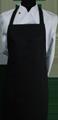 Detail foto van Schoenmakersschort 2 zakken - Zwart satijn