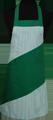 Detail foto van Hobbyschort diagonaal met vaste nekband met zak in 2e gedeeld - Groen
