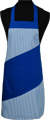 Detail foto van Hobbyschort diagonaal met vaste nekband met zak in 2e gedeeld - Kobalt