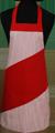 Detail foto van Hobbyschort diagonaal met vaste nekband met zak in 2e gedeeld - Rood