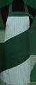 Detail foto van Hobbyschort diagonaal met verstelbare nekband. Nekband is d.m.v. drukkers te verstellen - Groen
