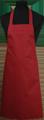 Detail foto van Hobbyschort zonder zak extra breed en 100 cm lang met extra lange banden zodat het schort voor gestrikt kan worden. - Bordeaux