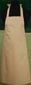 Detail foto van Hobbyschort zonder zak extra breed en 100 cm lang met extra lange banden zodat het schort voor gestrikt kan worden. - Camel