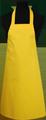 Detail foto van Hobbyschort zonder zak extra breed en 100 cm lang met extra lange banden zodat het schort voor gestrikt kan worden. - Geel