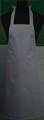 Detail foto van Hobbyschort zonder zak extra breed en 100 cm lang met extra lange banden zodat het schort voor gestrikt kan worden. - Grijs
