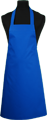 Detail foto van Hobbyschort zonder zak extra breed en 100 cm lang met extra lange banden zodat het schort voor gestrikt kan worden. - Kobalt