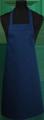 Detail foto van Hobbyschort zonder zak extra breed en 100 cm lang met extra lange banden zodat het schort voor gestrikt kan worden. - Marine