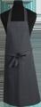 Detail foto van Hobbyschort zonder zak extra breed en 100 cm lang met extra lange banden zodat het schort voor gestrikt kan worden. - Twintone Grijs