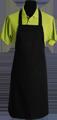 Detail foto van Hobbyschort zonder zak extra breed en 100 cm lang met extra lange banden zodat het schort voor gestrikt kan worden. - Zwart