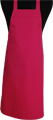 Detail foto van BBQ schort zonder zak - Fuchsia