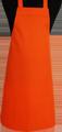 Detail foto van BBQ schort zonder zak - Oranje