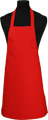 Detail foto van BBQ schort zonder zak - Rood