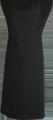 Detail foto van BBQ schort zonder zak - Zwart Satijn