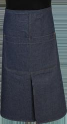 Paspop foto van Een loopsplitsloof met een overlappende split. De zak is dubbel opgestikt en in 2e gedeeld. Voorzien van rivetten.
