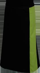 Paspop foto van Sloof met gekleurde baan van ca. 12cm breed, strikband in zelfde kleur