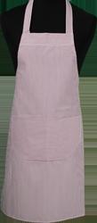 Paspop foto van Hobbyschort ingeweven streep met zak in 2e gedeeld