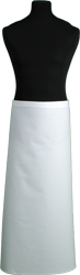 Paspop foto van Franse sloof met witte keper met banden van stof