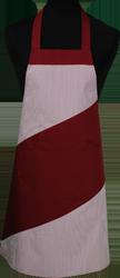 Paspop foto van Hobbyschort diagonaal met vaste nekband met zak in 2e gedeeld