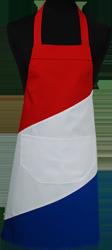 Paspop foto van Hobbyschort vlag met zak in 2e gedeeld