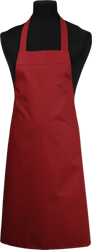 Paspop foto van Hobbyschort zonder zak extra breed en 100 cm lang met extra lange banden zodat het schort voor gestrikt kan worden.