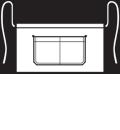 Modeltekening van Een korte sloof waarvan de zak dubbel is opgestikt en in het midden doorgestikt. Voorzien van rivetten.