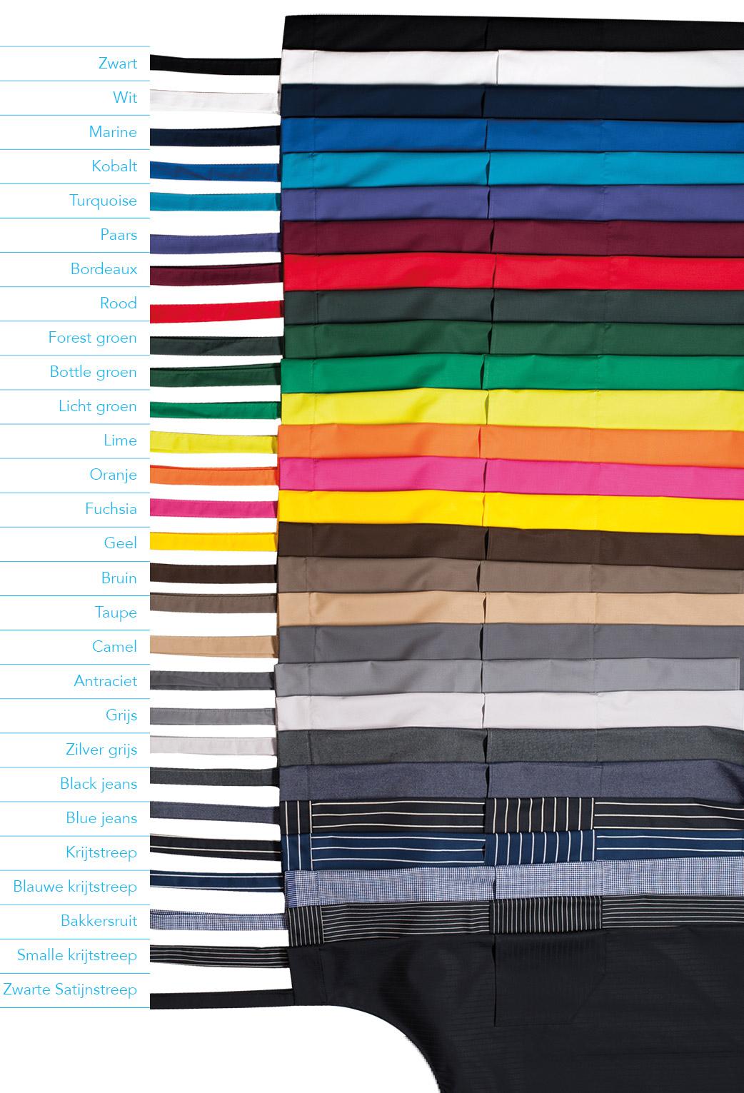 Knip en stik - de 25 standaard kleuren